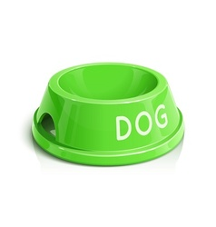 bowl for animal vector image