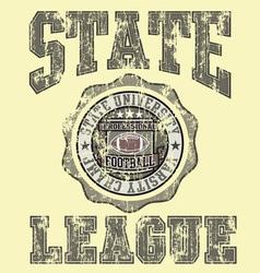 football Varsity champ League vector image