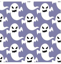 ghost halloween pattern vector image