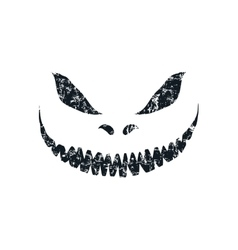 Grunge scary face isolated on white background vector image