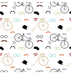 hipster accessories colorful pattern vector image vector image