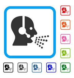operator speech framed icon vector image vector image