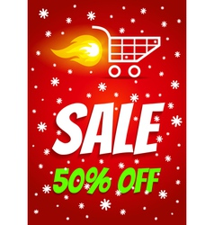 Sale winter vector image vector image