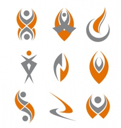 set of abstract symbols vector image vector image