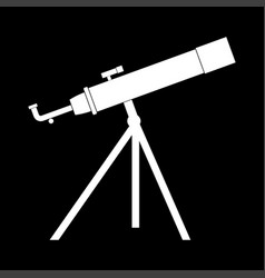 Telescope the white color icon vector