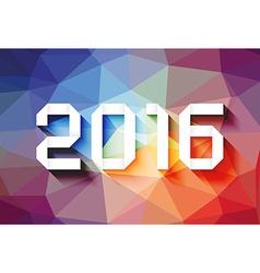 2016 origami vector image