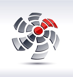 Abstract 3d propeller icon vector