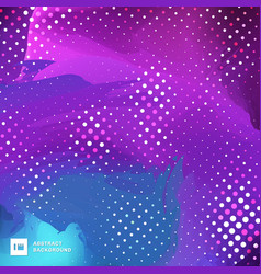 Abstract blue and purple paint brush vibrant vector
