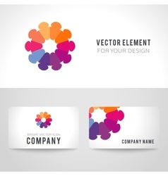 Abstract bright colorful communication logotype vector
