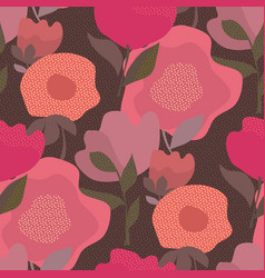 abstract dust color floral seamless pattern vector image