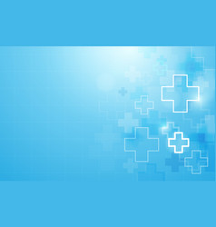 Abstract geometric medical cross shape medicine vector