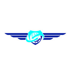 airplane symbol logo design template vector image