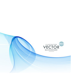 awesome abstract blue wave background vector image