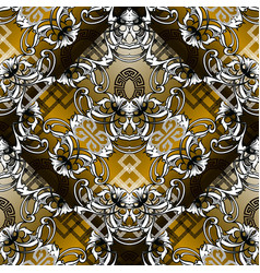 Baroque seamless pattern modern geometric vector