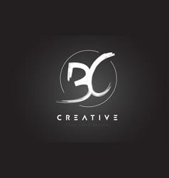 bc brush letter logo design artistic handwritten vector image