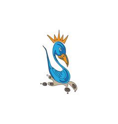 bird animal cartoon vector image
