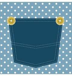 blue pocket vector image