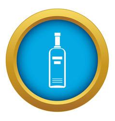 Bottle vodka icon blue isolated vector