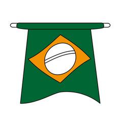brazil flag symbol vector image