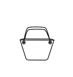bucket sign shopping bag symbol background vector image