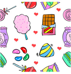 Candy sweet doodles vector