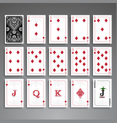 Cards full set vector