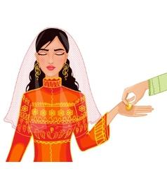 Ceremony at henna night kina gecesi vector image