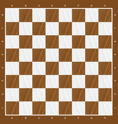 Chess board in brown and white wood vector