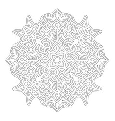 Clip art for coloring book with eastern mandala vector