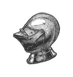 close helmet armet vector image