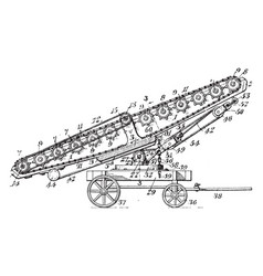 Conveyer belt vintage vector