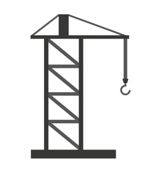 crane tower isolated icon design vector image