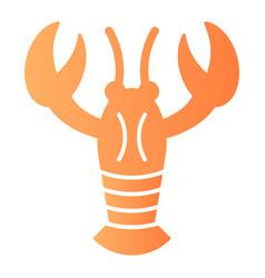 Crayfish flat icon crustacean color icons in vector