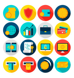 cryptocurrency flat icons vector image