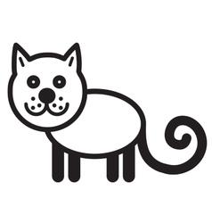 Cute animal cat vector image