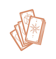 deck occult tarot cards with major arcanas for vector image