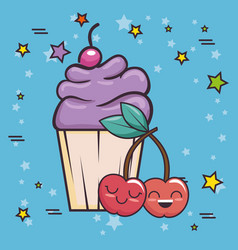 delicious cupcake pop art vector image