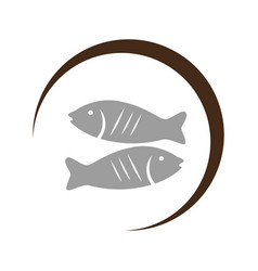 Delicious fish sea food vector
