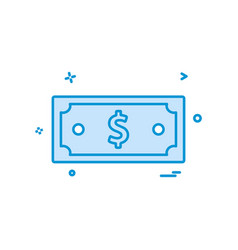 dollar money currency icon design vector image