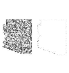 dot contour map of arizona state vector image