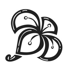 exotic plumeria icon simple style vector image