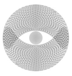 Eye sphere on white background for design vector