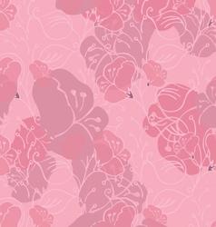 Fabric design flower pink vector