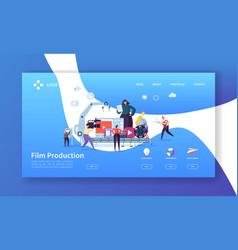 Film production landing page tv video industry vector
