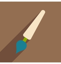 Flat with shadow icon and mobile application pen vector