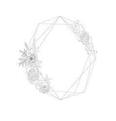 floral frame with christal vector image