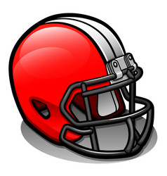 football helmet cartoon isolated vector image
