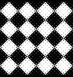 Geometrical black and white seamless curved star vector