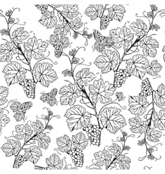 Grape seamless pattern vector