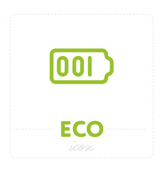 Green eco icons on white vector